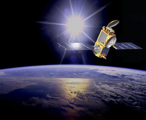 Satellite, Atmosphere, Outer space, Spacecraft, Space station, Telecommunications engineering, Space, Sky, Astronomical object, Vehicle,