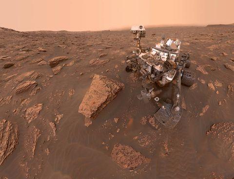 Curiosity Dust Storm
