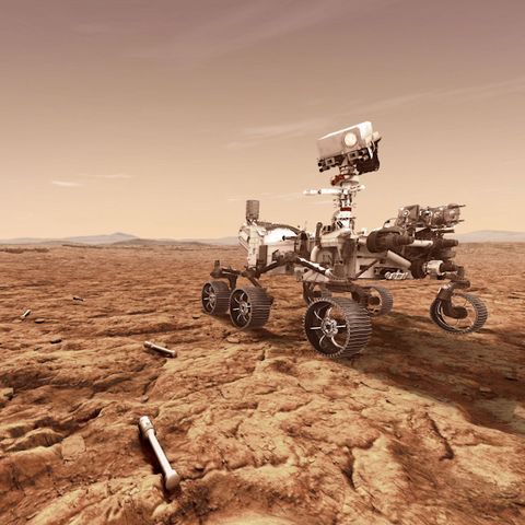 Vehicle, Landscape, Soil, Desert, Off-roading, Sky, All-terrain vehicle, Technology, Sand, Space,