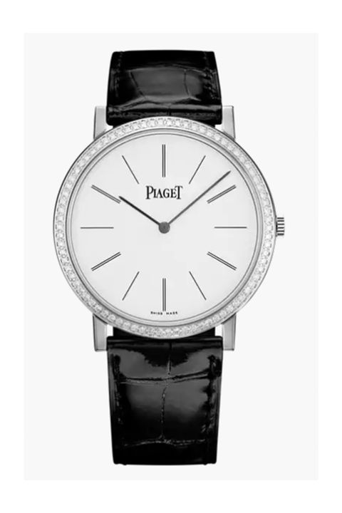 piaget altiplano watch, 38 mm case in 18k white gold set with 78 brilliant cut diamonds approx 07 ct manufacture piaget 430p ultra thin hand wound mechanical movement