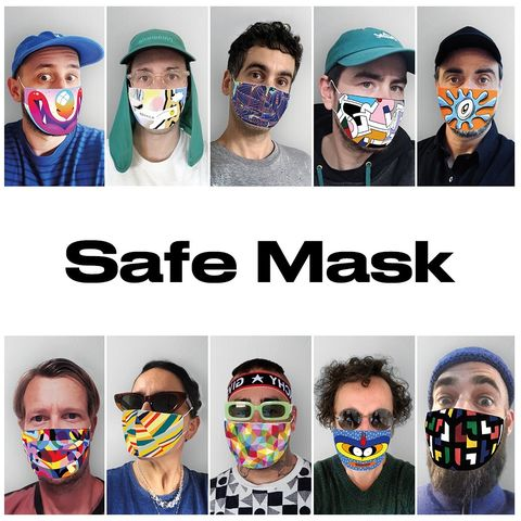 safe mask, artistas urbanos contra el vivid 19