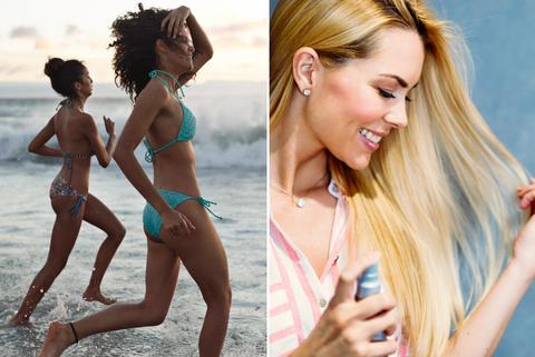 海邊玩水,頭髮乾澀,髮質硬,護髮,柔順,打結,毛躁,beauty