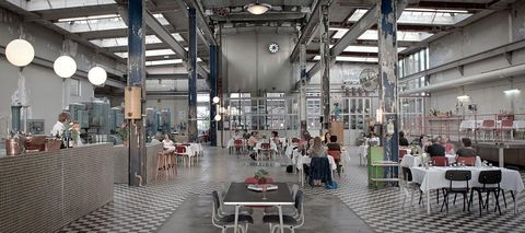 Building, Factory, Interior design,
