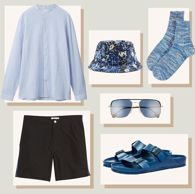 Blue, Clothing, White, Shorts, Product, Cobalt blue, Footwear, Denim, Fashion, Shoe,