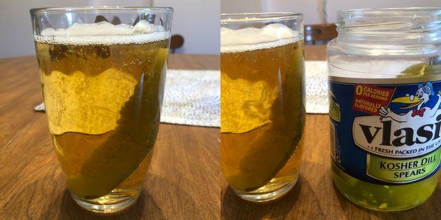 pickle in beer trick