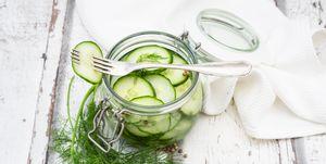Pickled cucumber, swedish pressgurka, with dill