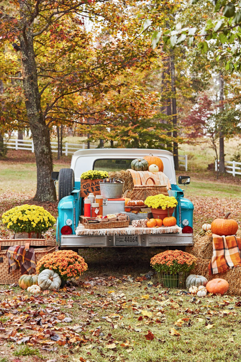 pickup truck thanksgiving decorations