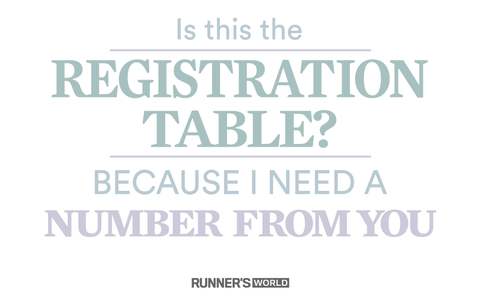 Is this the registration table? Because I need a number from you.