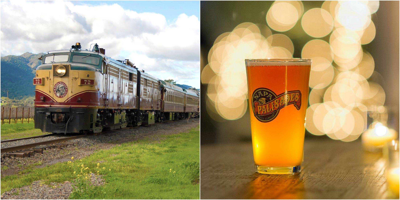 You Can Ride A Beer Train Ride Through Napa Valley - Napa Valley Hop