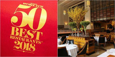 Yellow, Restaurant, Font, Fast food restaurant, Table, Brunch, Brand, Coffeehouse, Interior design, Building,