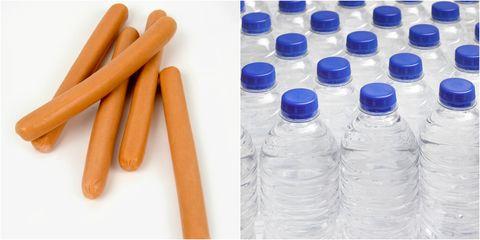Plastic bottle, Plastic,