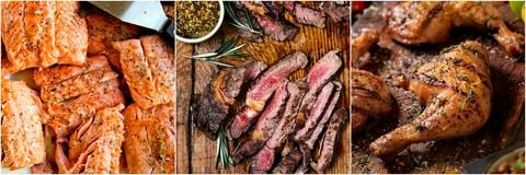 Food, Cuisine, Dish, Mixed grill, Meat, Steak, Recipe, Grilling, Churrasco food, Barbecue,