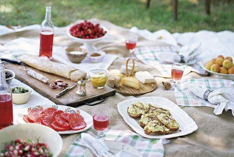 picnic en el jardín