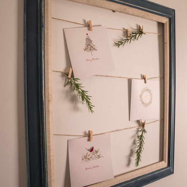 christmas card display picture frame, bhf x lynne lambourne