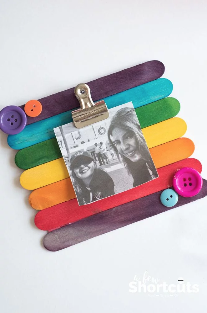 popsicle stick frame mothers day craft kids