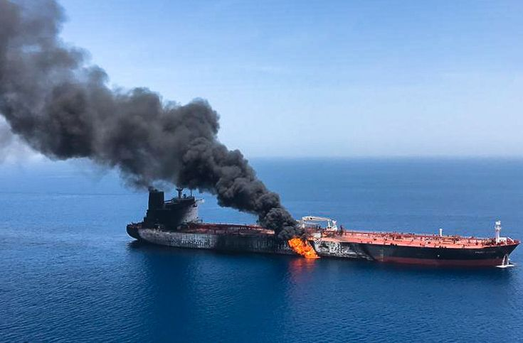 Two Oil Tankers Attacked in the Middle East, U.S. Destroyer Rescues Crew