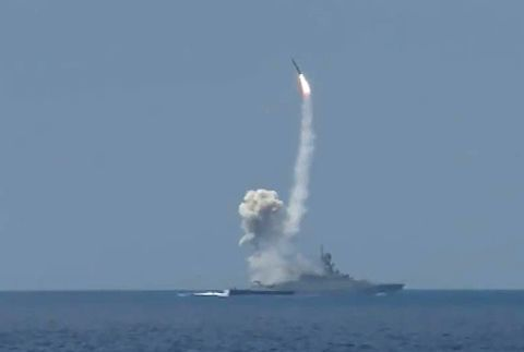 Russian Navy delivers air strikes from Mediterranean Sea against ISIS targets in Syria
