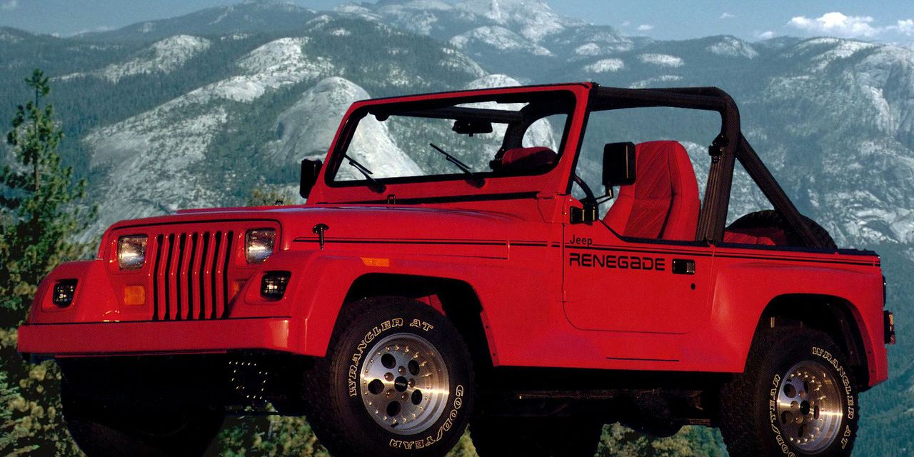 The Jeep Wrangler S Renegade Entry Into The 1990s