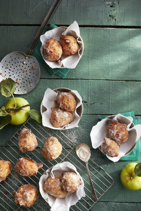pie-spiced apple fritters recipe