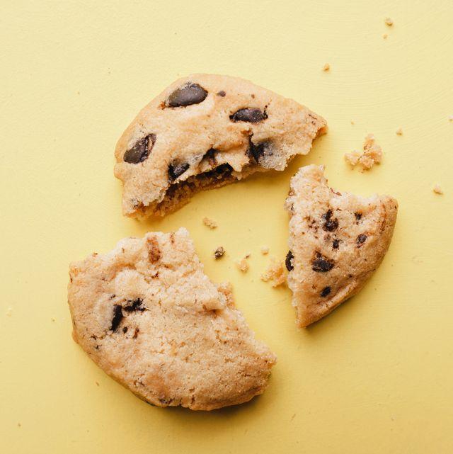 pieces of broken cookie, diet, part, sharing