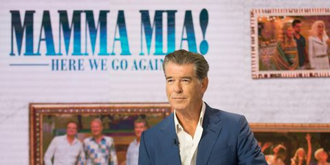 44f5d658062b Pierce Brosnan shares sweet snap after surprise airport reunion with Mamma  Mia co-star