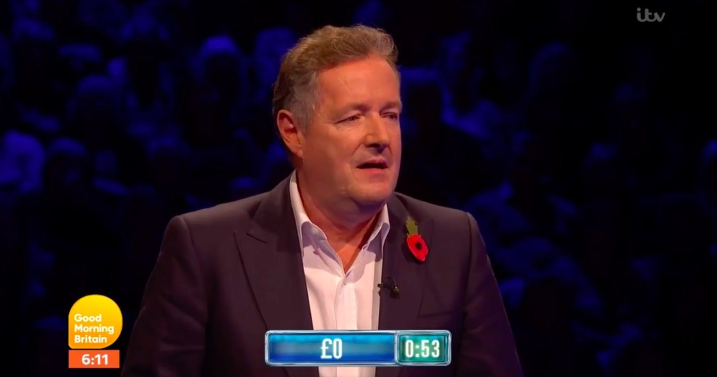 "Good Morning Britain's Piers Morgan has a ""horror story"" moment on The Chase"