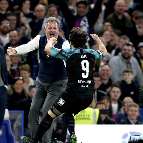 Soccer Aid 2019 sees Love Island's Kem Cetinay score a dream goal as Piers Morgan's World XI triumphs
