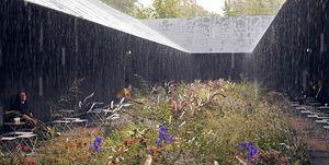 Il giardino temporaneo di Ouldolf alla Serpentine Gallery nel 2011
