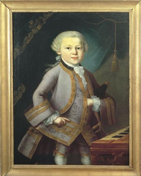 Austria, Portrait of Wolfgang Amadeus Mozart