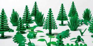 Piezas hechas en caña de azúcar de Lego