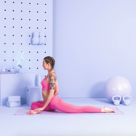 how to do yoga pigeon pose with modifications