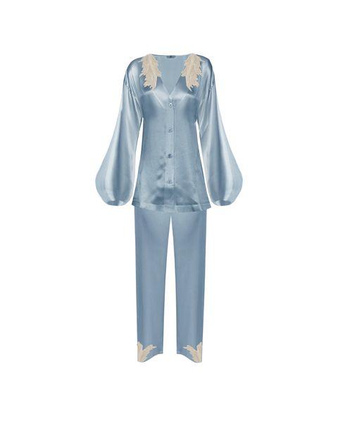Sleeve, Textile, Grey, Aqua, Fashion design, Costume design, Pattern, Pocket,