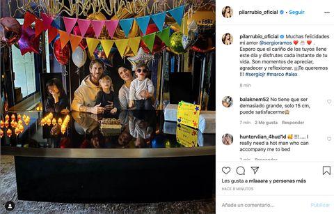 Pilar Rubio felicita a Sergio Ramos por su cumpleaños junto a sus hijos