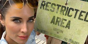 Pilar Rubio de viaje en Louisiana