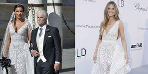 Duelo de estilo: El vestido de novia de Pilar Rubio ya lo lució Heidi Klum