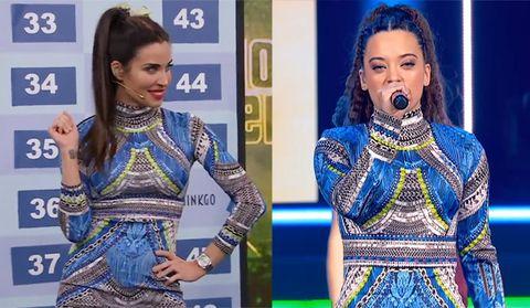 Pilar Rubio y Noelia, de OT, con el mismo vestido