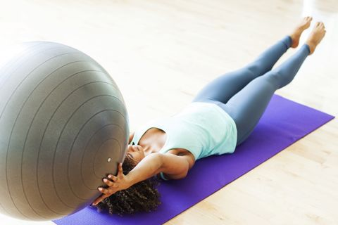 Two key moves on a swiss ball to help improve core strength