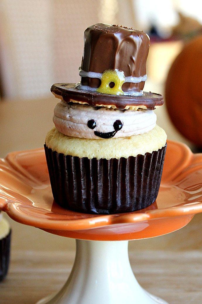 pilgrim thanksgiving cupcake