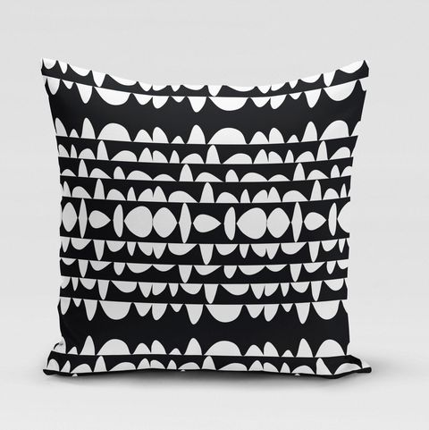 rochelle porter design pillow cover with black and white pattern