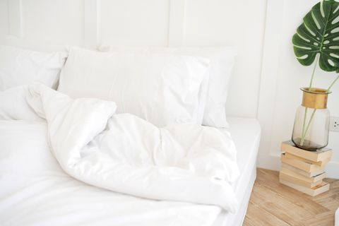Pillows On Empty Bed At Home