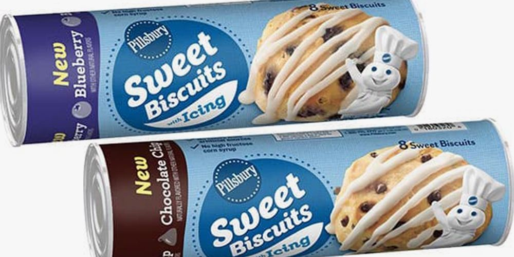 Pillsbury S New Sweet Biscuits Are Drizzled With Icing So