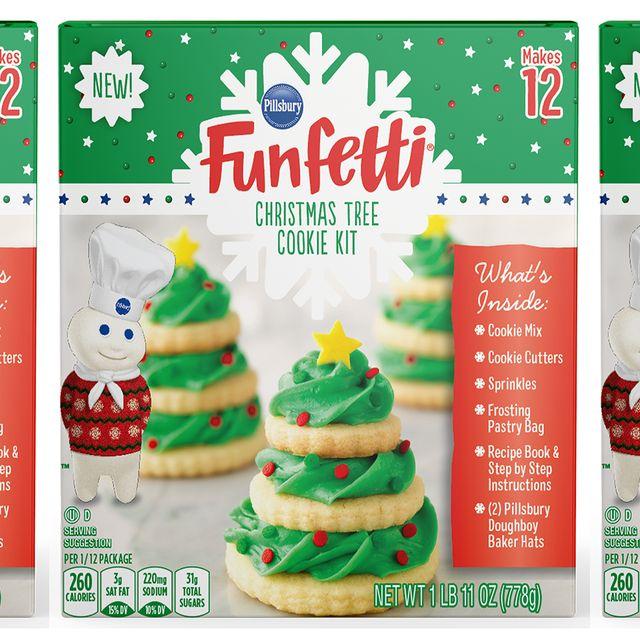 pillsbury funfetti christmas tree cookie kit