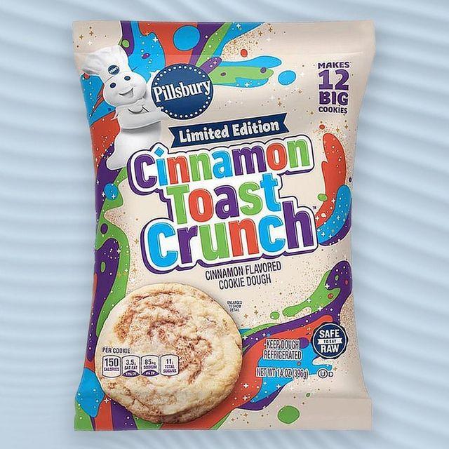 pillsbury cinnamon toast crunch cinnamon flavored cookie dough