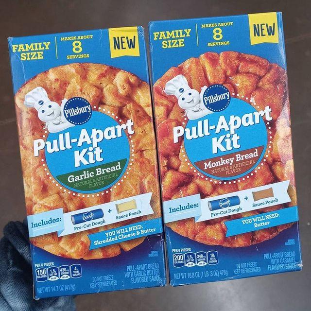 pillsbury pull apart kit garlic and monkey bread
