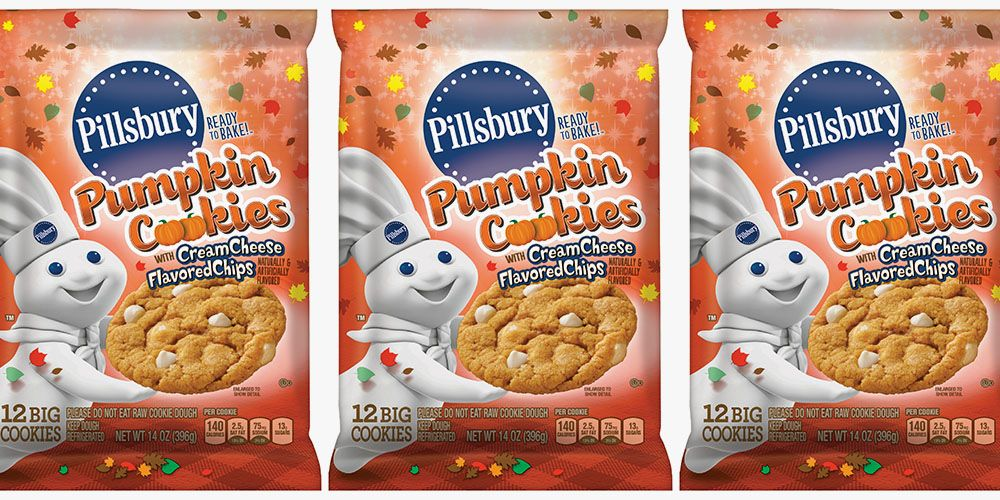 Pillsbury's Pumpkin Cookies Are Filled With Cream Cheese Chips, So We Know What We're Baking Later