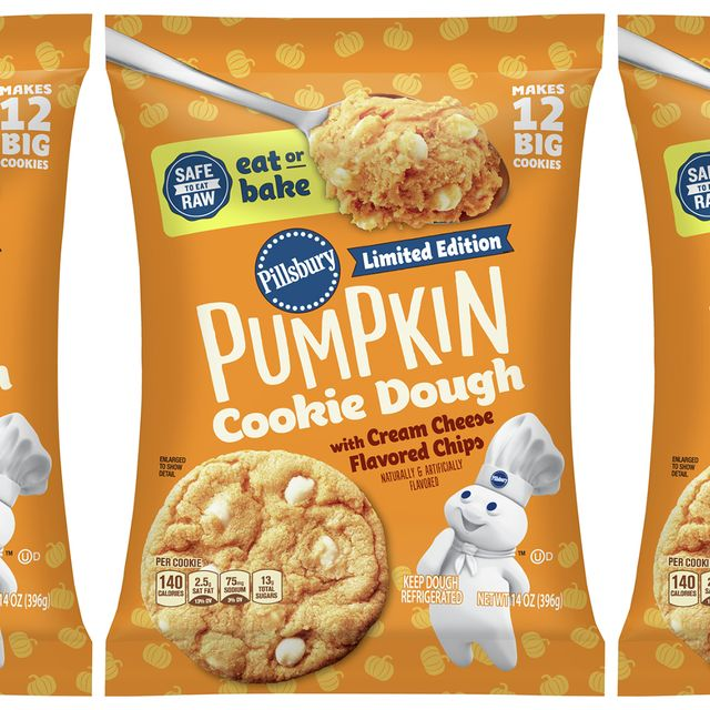 pillsbury's safe to eat raw pumpkin cookie dough with cream cheese chips