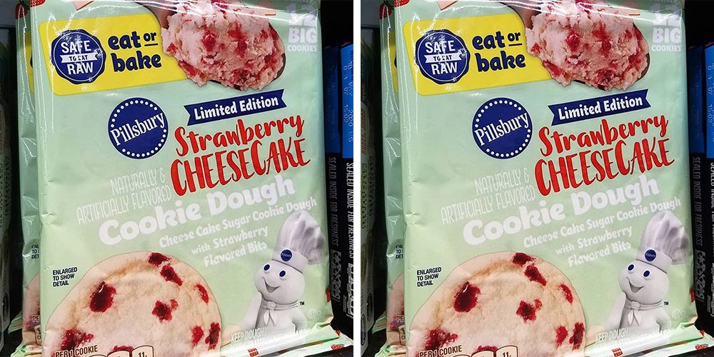 Pillsbury's New Strawberry Cheesecake Cookie Dough Can Be Baked Or Eaten Raw