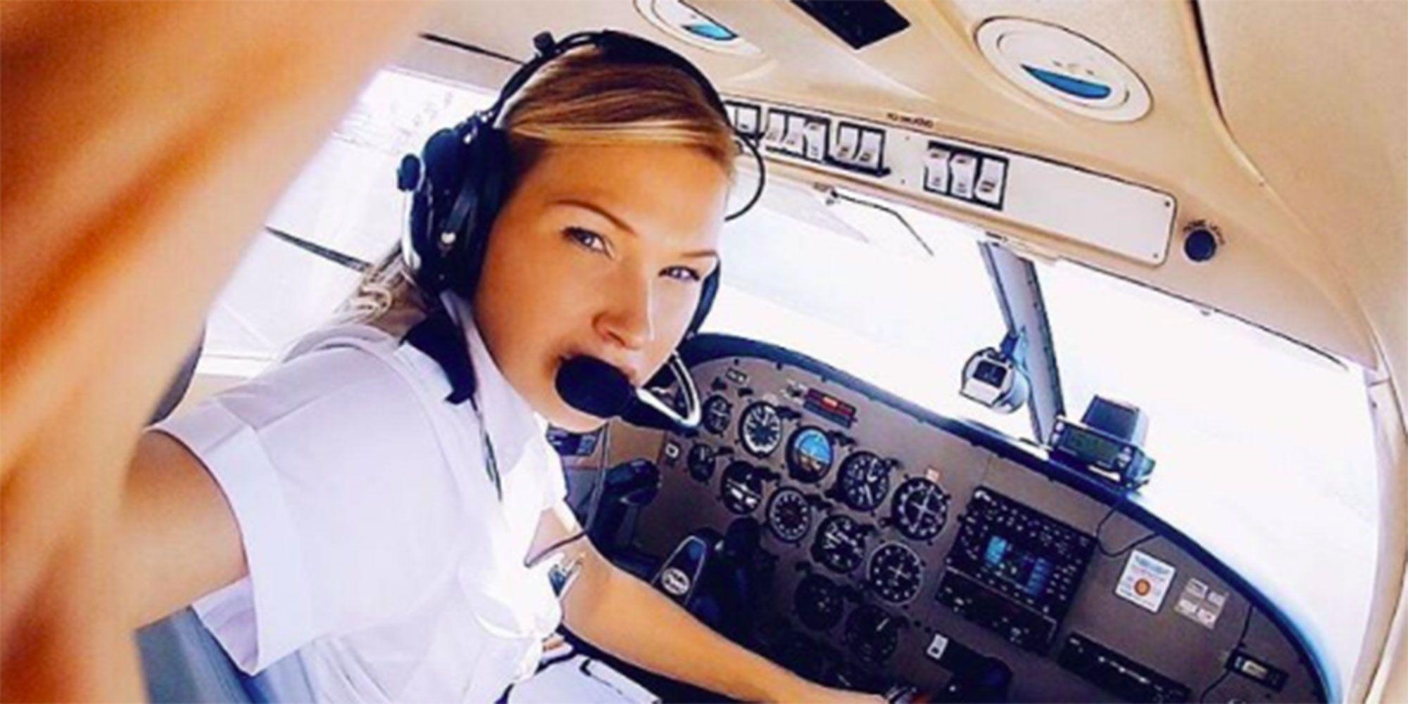 Female pilot on Instagram
