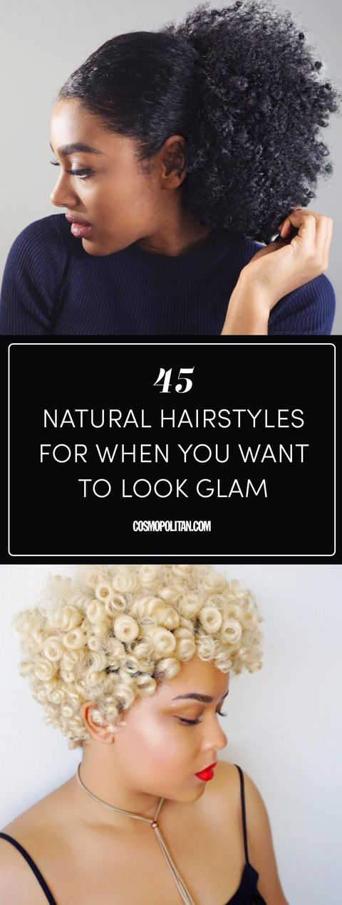 45 Gorgeous Natural Hairstyles for When You Want to Look Glam