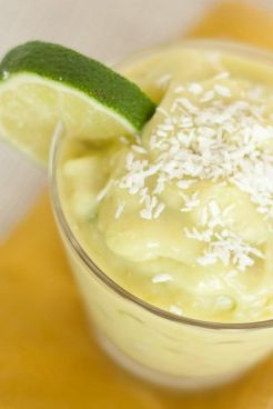 Pineapple Avocado Smoothie If you haven't yet tried avocado in your smoothie in place of your typical healthy fat like almond butter or flax...you're in for a mean, green treat. Get the recipe Per serving: 404 calories, 18 g fat (5 g saturated), 63 g carbs, 44 g sugar, 153 mg sodium, 10 g fiber, 5 g protein
